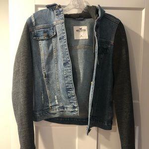 Hollister hoodie Jean Jacket